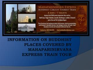 Information on Buddhist Places by MahaParinirvana Express