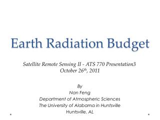 Earth Radiation Budget