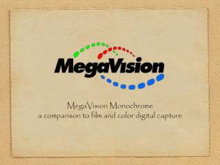 MegaVision Monochrome a comparison to film and color digital capture