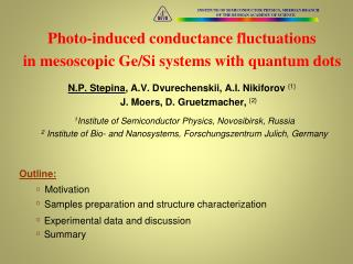 Photo-induced conductance fluctuations in  mesoscopic Ge /Si systems with quantum dots