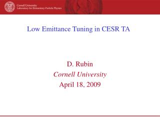 Low Emittance Tuning in CESR TA
