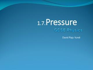 1.7. Pressure