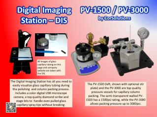 Digital Imaging Station – DIS           			   PV-1500 / PV-3000   by  CorSolutions
