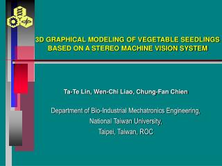 3D GRAPHICAL MODELING OF VEGETABLE SEEDLINGS BASED ON A STEREO MACHINE VISION SYSTEM