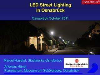 LED Street Lighting in Osnabrück