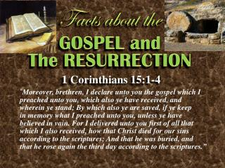 GOSPEL and The RESURRECTION