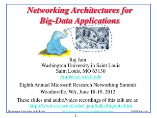 Networking Architectures for  Big-Data Applications
