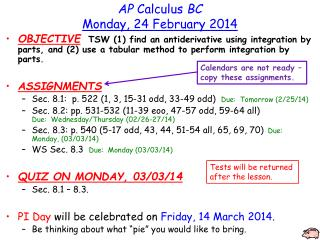 AP  Calculus  BC Monday,  24  February  2014