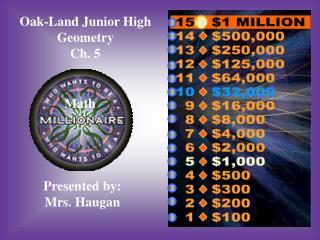 Oak-Land Junior High Geometry Ch. 5
