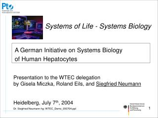 A German Initiative on Systems Biology of Human Hepatocytes