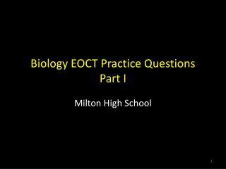 Biology EOCT Practice Questions Part I