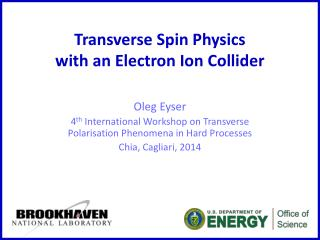 Transverse Spin Physics with an Electron Ion Collider