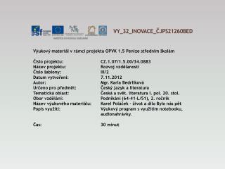 V Y_32_INOVACE_ ČJPS21260BED