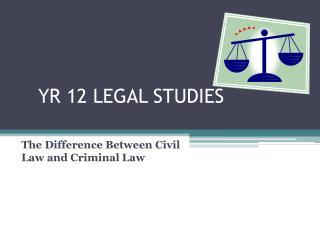YR 12 LEGAL STUDIES