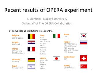 Recent results of  OPERA experiment