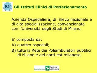 Gli Istituti Clinici di Perfezionamento