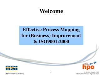 Effective Process Mapping for Business Improvement  ISO9001:2000