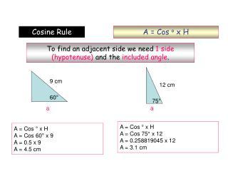 A = Cos  o  x H