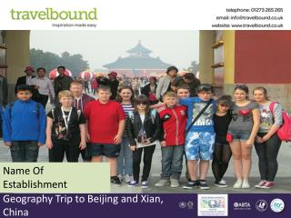 Geography Trip to Beijing and Xian, China