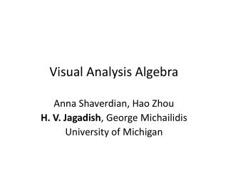 Visual Analysis Algebra