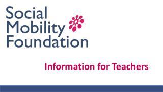 Information for Teachers