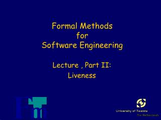 Formal Methods  for  Software Engineering