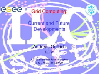 Grid Computing: Current and Future  Developments