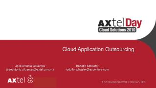 Cloud  Application Outsourcing