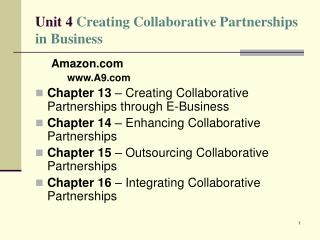 Unit 4 Creating Collaborative Partnerships in Business