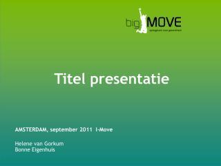 Titel presentatie