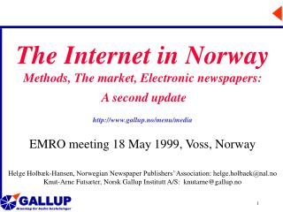 The Internet in Norway Methods, The market, Electronic newspapers: A second update