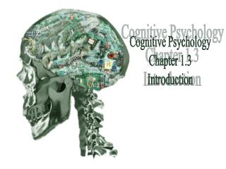 Cognitive Psychology Chapter 1.3 Introduction