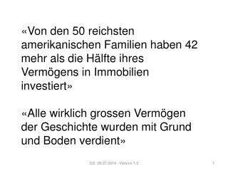 Mission:  Durch  die  Entgegennahme  von vernachlässigten Immobilien in Bern, Basel und Zürich,
