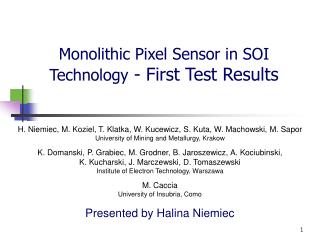 Monolithic Pixel Sensor in SOI Technology  - First Test Results
