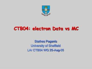 CTB04: electron Data vs MC