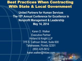 Best Practices When Contracting With State & Local Government