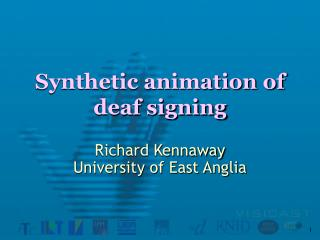 Synthetic animation of deaf signing