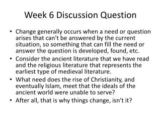 Week 6 Discussion Question