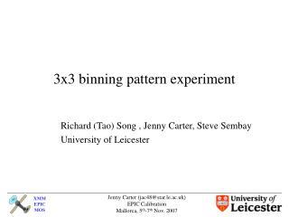 3x3 binning pattern experiment