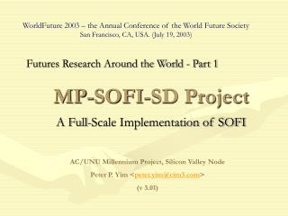 MP-SOFI-SD Project