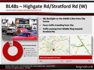 BL48s – Highgate Rd/Stratford Rd (W)