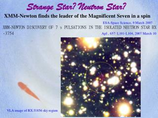 Strange Star? Neutron Star?