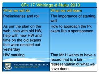 6 Px 17  Whiringa - ā - Nuku  2013