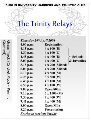 The Trinity Relays