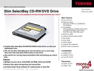 Slim SelectBay CD-RW/DVD Drive
