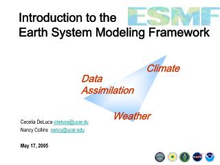 Introduction to the  Earth System Modeling Framework