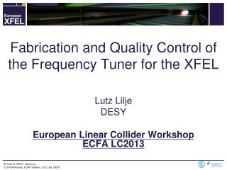 Fabrication and Quality Control  of the  Frequency Tuner for the XFEL