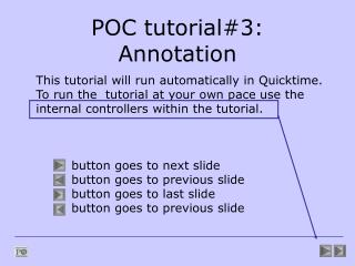 POC tutorial#3: Annotation