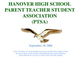 HANOVER HIGH SCHOOL PARENT TEACHER STUDENT ASSOCIATION (PTSA)