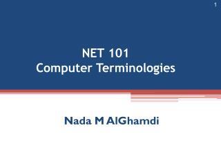 NET 101 Computer Terminologies